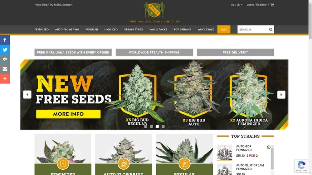 Marijuana Seeds NL screnshot