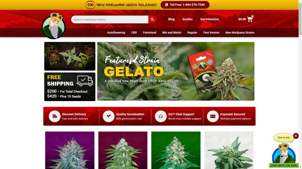 Crop King Seeds Website